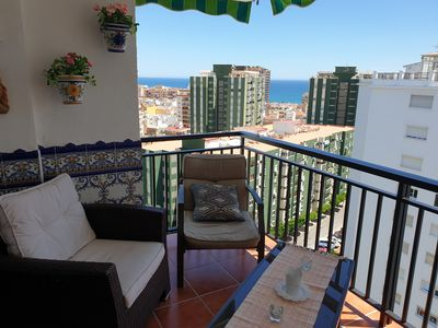 Photo for Cozy apartment with seaview, pool close to beach / Apartment with sea view and pool