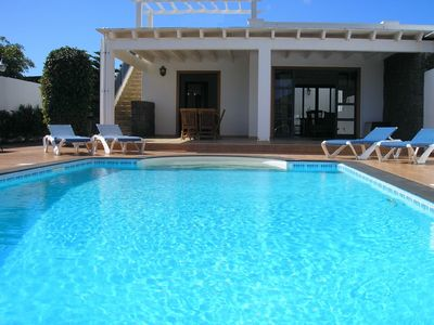 Photo for Fabulous two bedroom, two bathroom villa, large heated pool and terrace