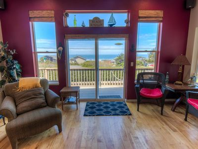Photo for Yachats Ocean View, 6 Bedrooms! Sleeps 16! Game Room! Hot Tub! Free Night!