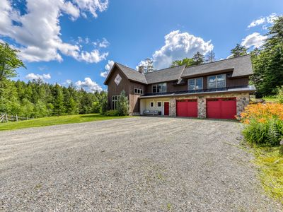 Photo for Spacious and stunning creekside home with private hot tub & firepit