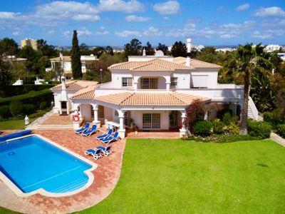Photo for Golf dream villa with private pool, huge garden and sea view