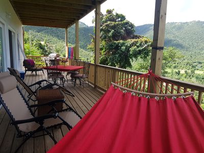Private deck for dining or lounging