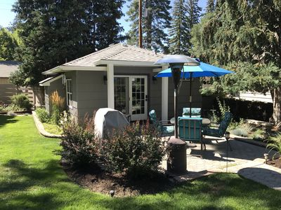 Secluded, peaceful setting with your own patio, propane BBQ and heaters