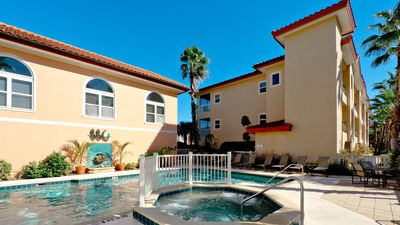 Photo for Sunflower condo with two pools - one is directly on the beach! Elevator