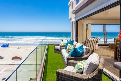 Pier Ocean View from a Wrap Around Deck with Panoramic Doors