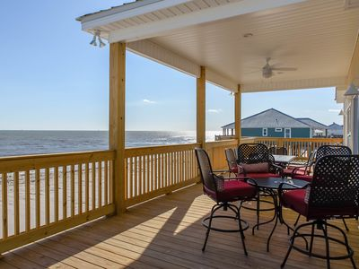 Photo for New gulf-front, dog-friendly home, beach for your back yard  w/ amazing views