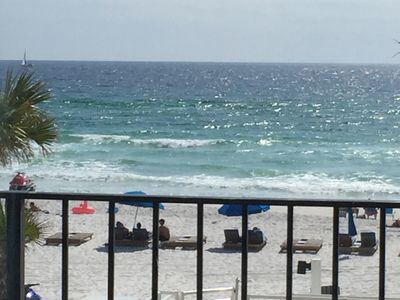 Photo for Seas the Days! Low floor, spacious beachfront vacation condo for your family.