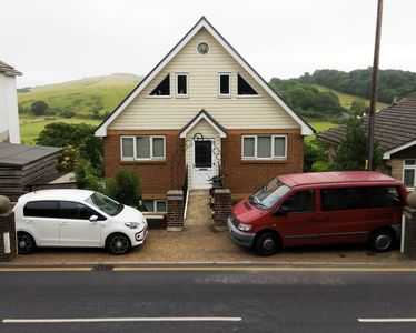 Dedicated Parking - Minibus shows how much space you have for your car.
