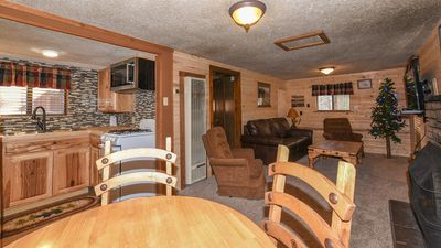 """Photo for Canyon Cabins - """"Blue Jay""""-Cozy Cabin in Upper Canyon - Fireplace & Kitchen"""