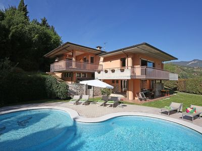 Photo for Large Modern Villa With Private Pool, hot tub, A/C, Stunning Lake Views In Salo