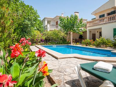 Photo for Villa Chalet Muro with Pool and Garden familyhouse near the sandy beach of Playas de Muro