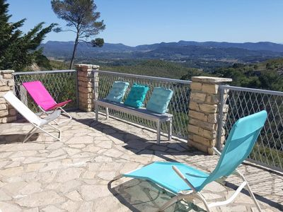 Photo for CASTELLET PARK, chalet 4/6 people panoramic view in park with swimming pool,