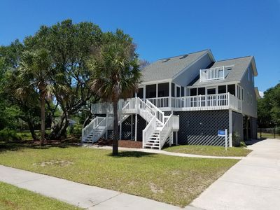 Photo for NEWER TO THE MARKET!  Renovated Beach House Pet Friendly Fully Fenced