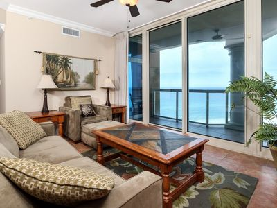 Photo for Charming Gulf-front Portofino Island Condo, Private Balcony with grill, Two pools, Two hot tubs