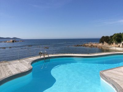 Photo for Spacious waterfront villa in the isolella with private beach and pontoon