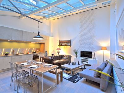 Photo for Show Room - Beautiful 2 bedroom loft, in the heart of Paris, fully renovated