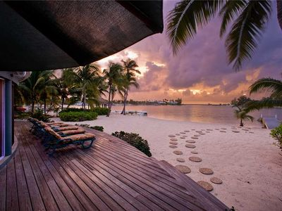 Photo for Sea Cove: Waterfront Villa in Exclusive Cayman Kai Neighborhood with Sensational Sunsets