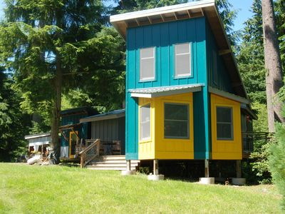 Photo for Cozy artist studio guest house on six acre forested ridge above Langley center
