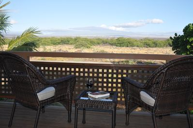 Afternoon view of Mauna Kea from the front deck - great place to relax!