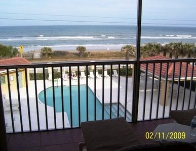 Wonderful ocean views from the screened in porch. family rm, master & kitchen,