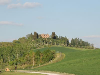 Photo for Private villa with exclusive pool and garden and spectacular views of Siena