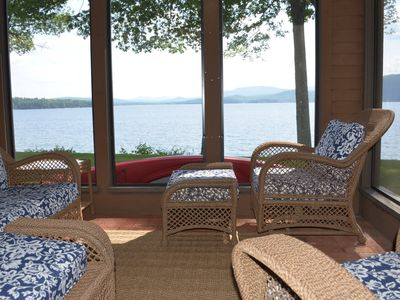 Photo for Waterfront Renovated Townhouse Newfound Lake 2 Beaches Tennis Mooring 2 Kayaks