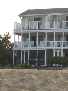 Photo for Oceanfront Townhouse on beautiful beach next to DE Seashore State Park