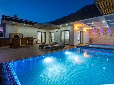 Photo for Luxury Honeymoon  Villa with Heated Indoor Pool, Jacuzi & Secluded Infinity Pool