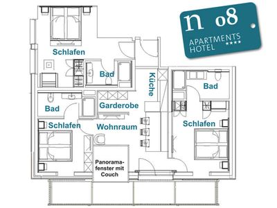 Photo for n 08 2-6 persons - 2. OG - approx. 85 m2 - n Apartments Hotel ****