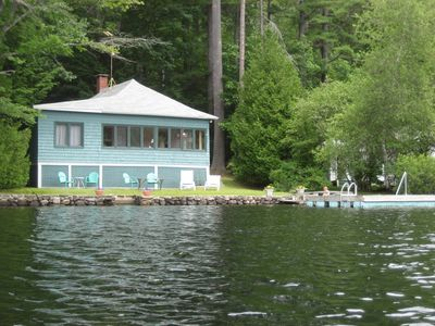View of cottage from Lake Megunticook
