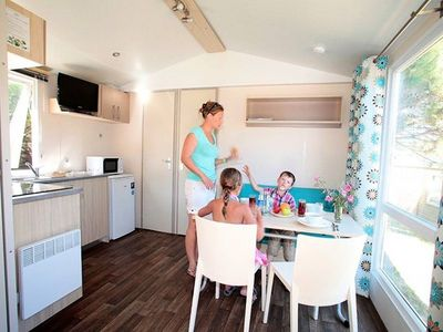 Photo for Camping Odalys des Demoiselles *** - Mobil Home 3 Rooms 4/6 People