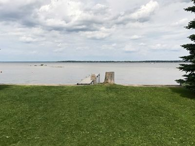 Photo for Lakefront Prudenville House w/Yard & Private Dock!