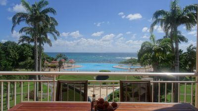 Photo for bright T3 and de110m2 standing with pool and sea view terrace of 30m2