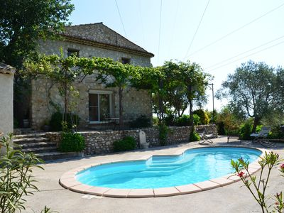 Photo for Bastide stone of 220 sqm, swimming pool with views