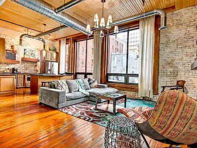 Photo for ❤️ of Downtown- 1 BR Walk to Everything! Flat Loft- Printers Alley Lofts