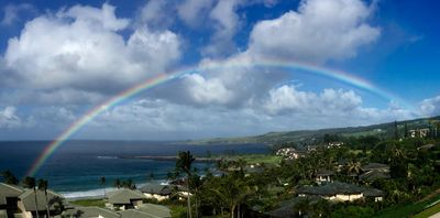 This rainbow image was taken from the lanai off the living room and is unedited.