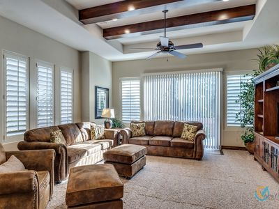 Photo for Free Wi-Fi, 2 heated pools, hot tub, TV, Great Kitchen, BBQ , Wrap around Patio