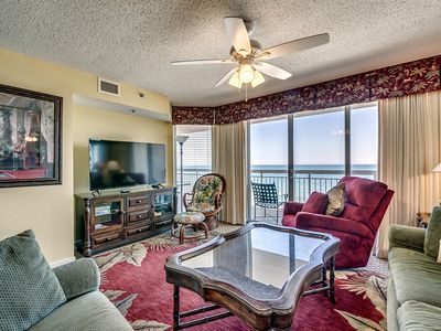 Photo for Crescent Shores 803, 3 Bedroom Beachfront Condo, Hot Tub and Free Wi-Fi!