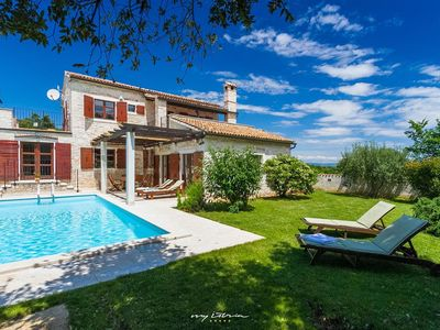 Photo for Picture-perfect stone villa with seaview