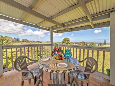 Photo for Oceanview Hilo Studio w/ Elevated Covered Deck!