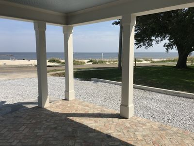 "Photo for ""Prime Location"" New Beachfront 3 Bedroom on the BEACH in downtown Bay St Louis"