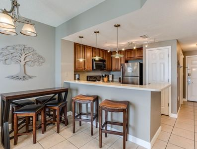Well appointed Kitchen with dishes, utensils & nice small appliances