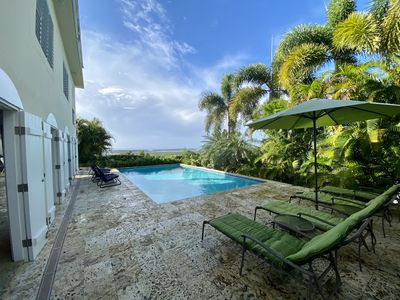 Private, tropical setting with spectacular views of the Caribbean