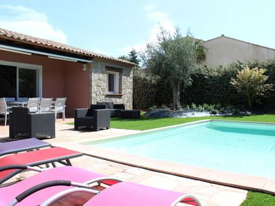 Photo for Villa any comfort. private heated pool- sleeps 8- total tranquility.