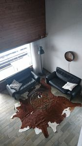 Photo for Bright 6 1/2 - room duplex apartment in a quiet location overlooking the Alps