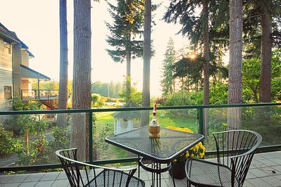 Views of The Quintessa gardens from your private patio