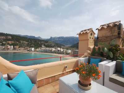 Photo for Stunning apartment with sea views in Port de Soller