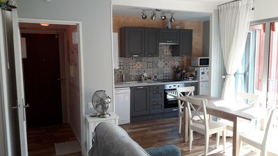 Photo for T2 bis classified *** of 45m2, quiet, near train station, market and beaches, prkg, wifi