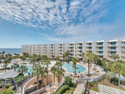 Photo for Spacious, Beach-Chic Condo At Waterscape! Steps To Beach! Lazy River