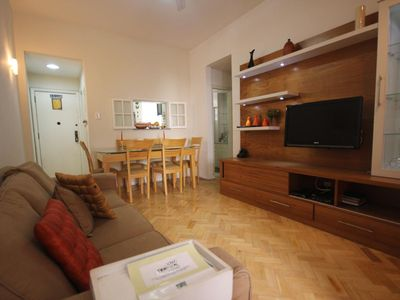 Photo for Copacabana Apartment 2nd block from the beach. Reveilllon and Carnival 2020